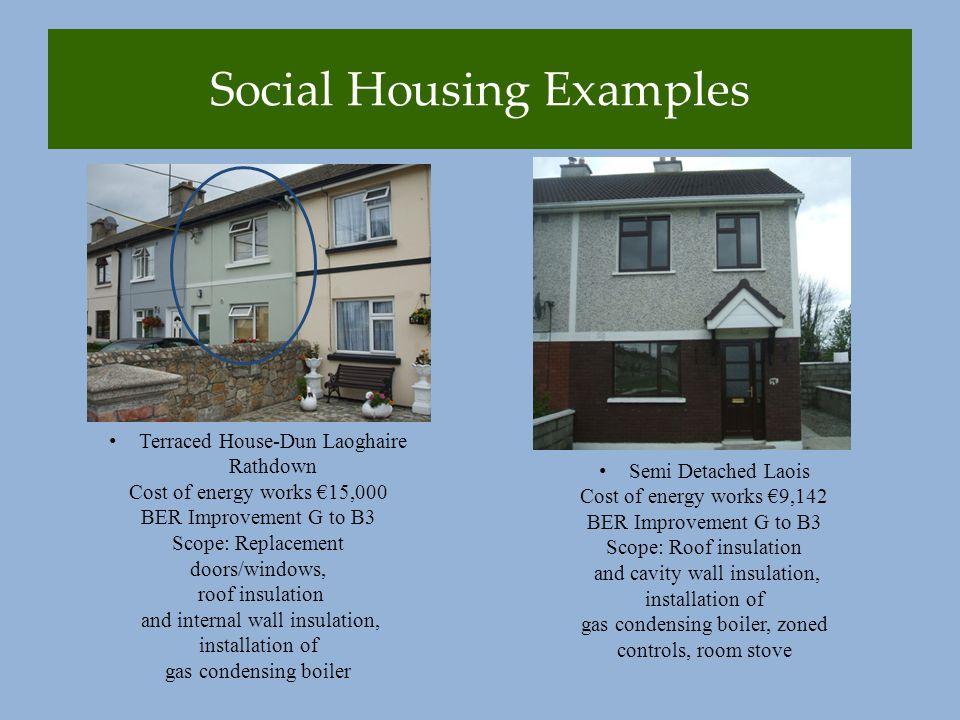 Social Housing Examples Mitchells Crescent Tralee, External Insulation, Biomass district heating.