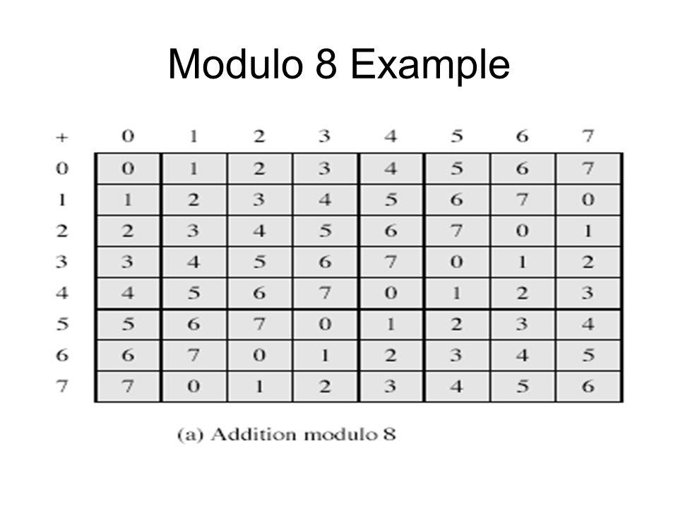 Modulo 8 Example