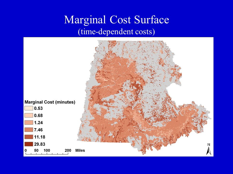 Marginal Cost Surface (time-dependent costs)
