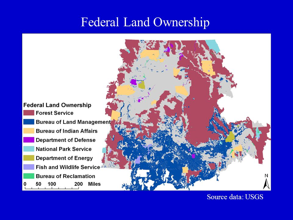 Federal Land Ownership Source data: USGS