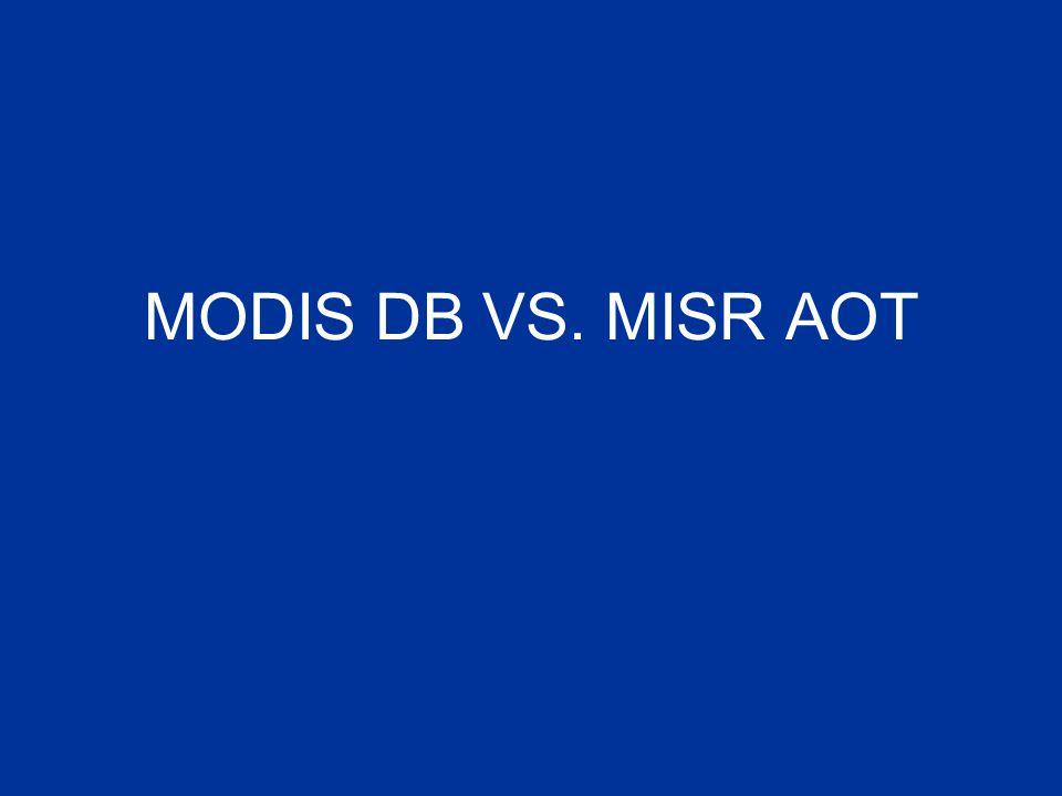 MODIS DB VS. MISR AOT