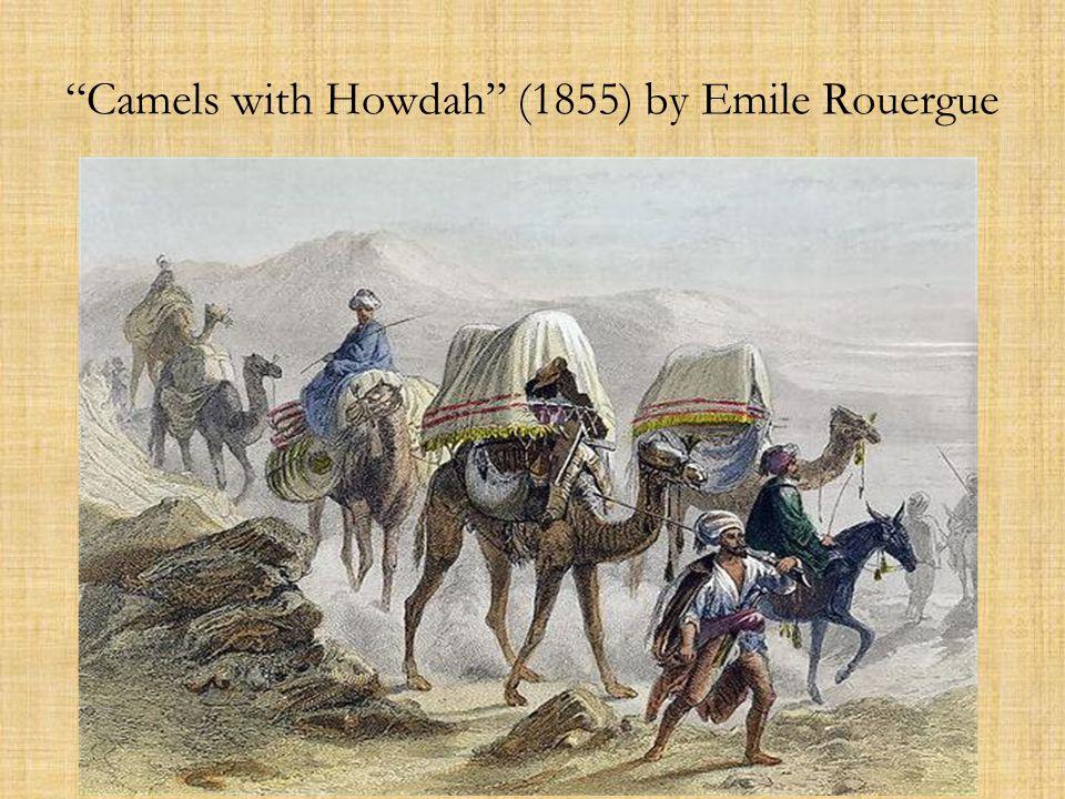 A caravan crossing Ad Dahna desert