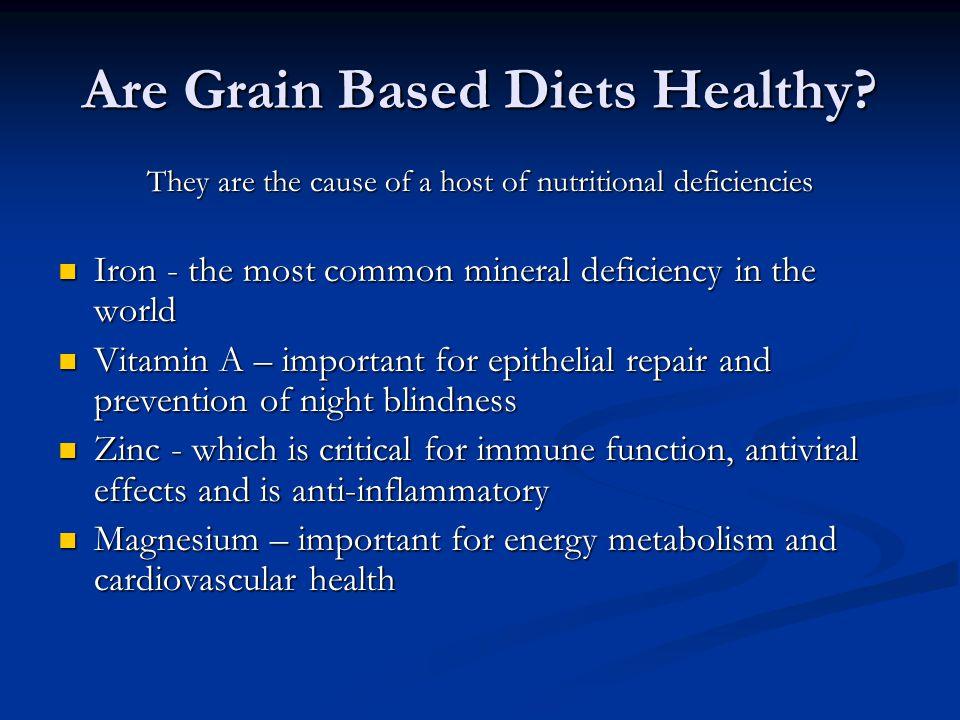 Are Grain Based Diets Healthy.