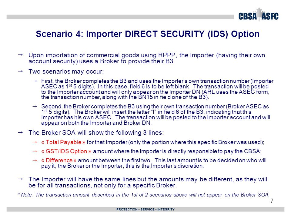 Scenario 10 – Importer DN showing refund 28