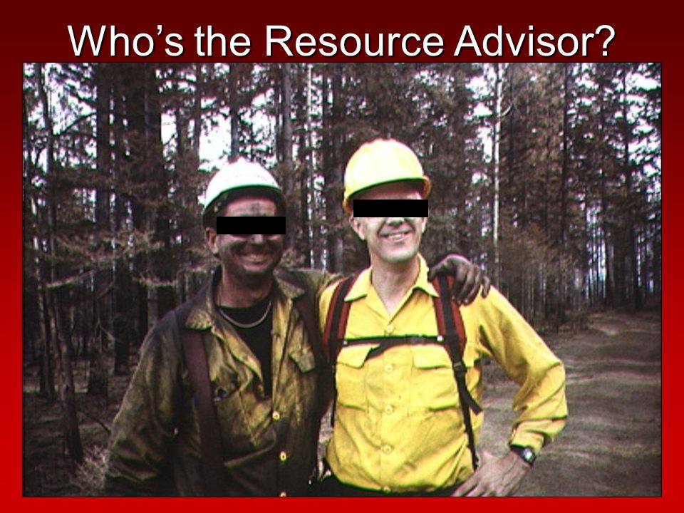 Who's the Resource Advisor