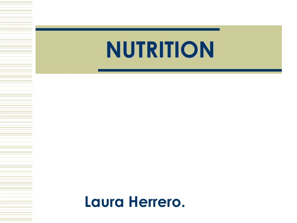 The importance of nutrition:  Nutrition is the set of processes through which the organism receives, processes and uses the substances which it obtains from food.