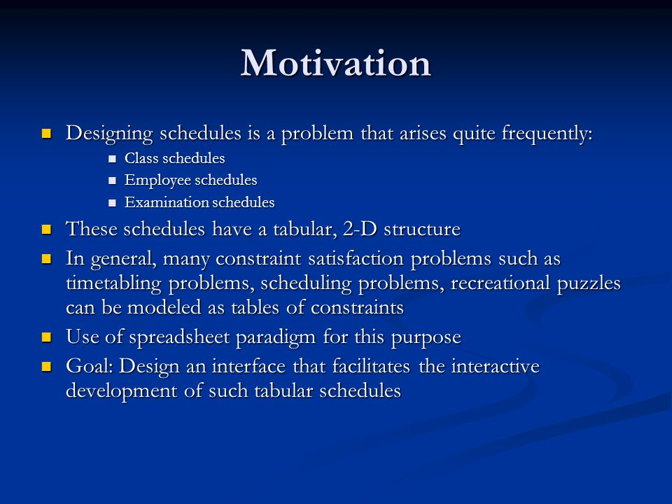 Solution: Employee Schedule (cont'd) Displaying a solution