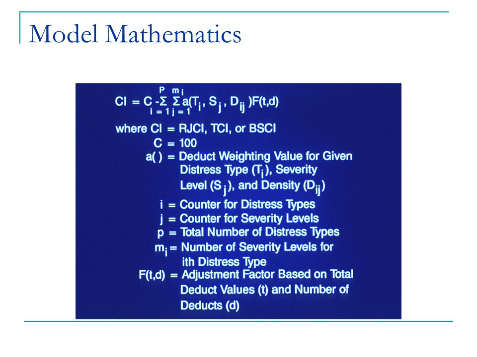 Model Mathematics