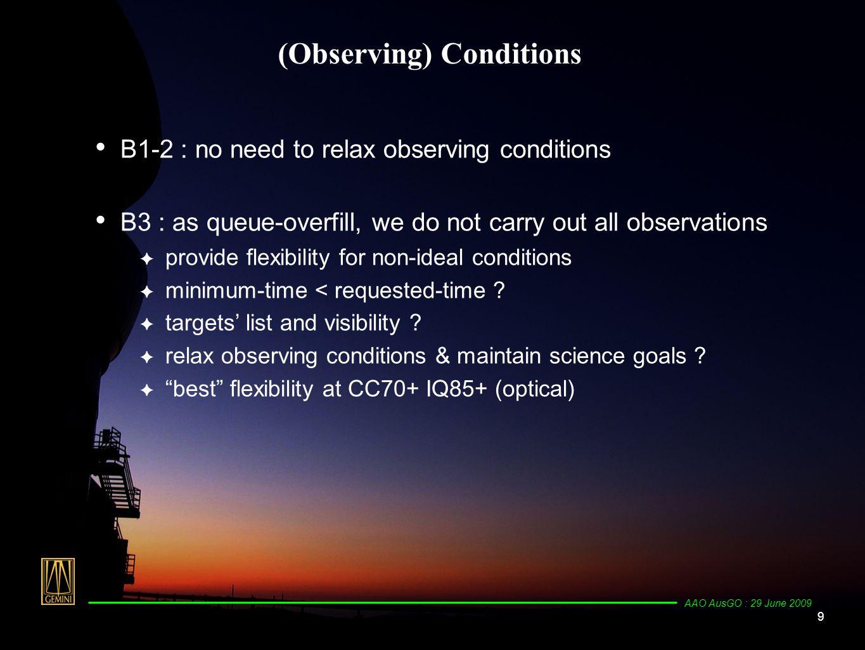 10 AAO AusGO : 29 June 2009 (Observing) Conditions