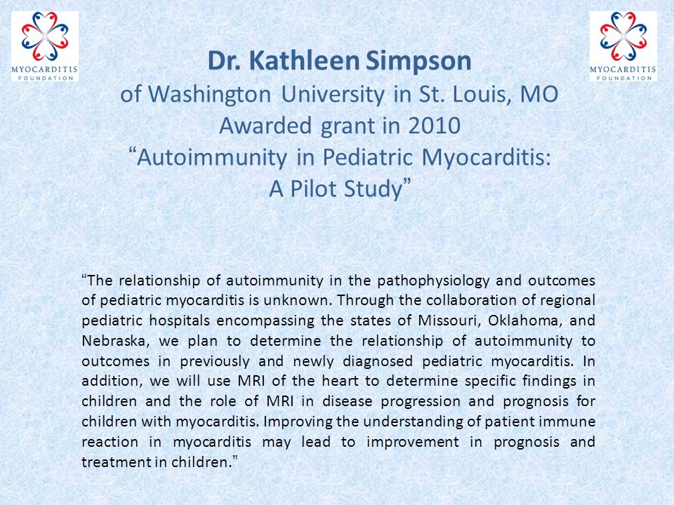 Dr. Kathleen Simpson of Washington University in St.