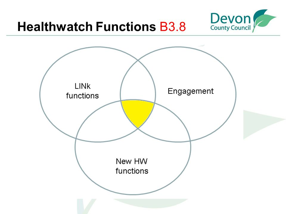 Healthwatch Functions B3.8