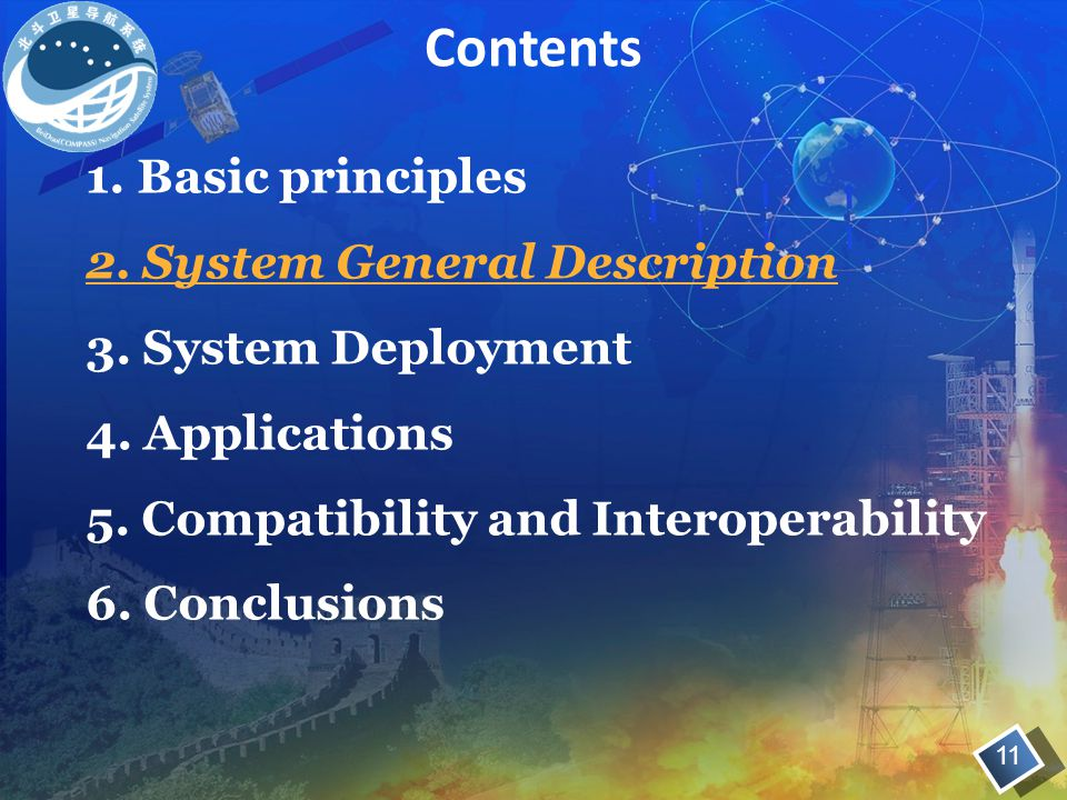 1. Basic principles 2. System General Description 3. System Deployment 4. Applications 5. Compatibility and Interoperability 6. Conclusions Contents 1