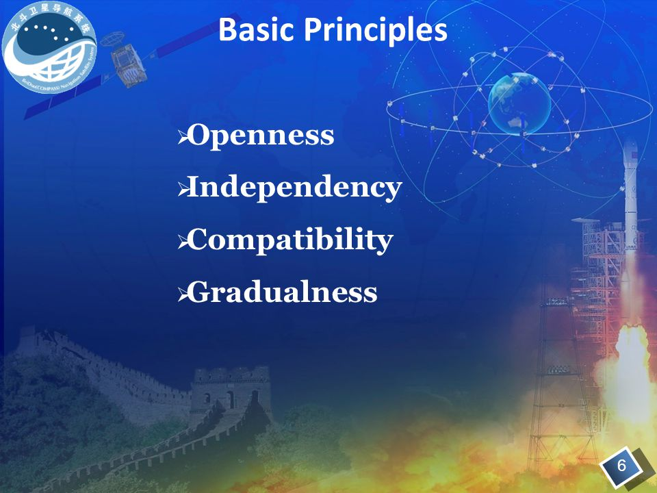  Openness  Independency  Compatibility  Gradualness Basic Principles 6