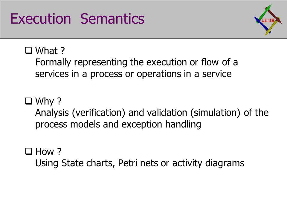 Execution Semantics  What .