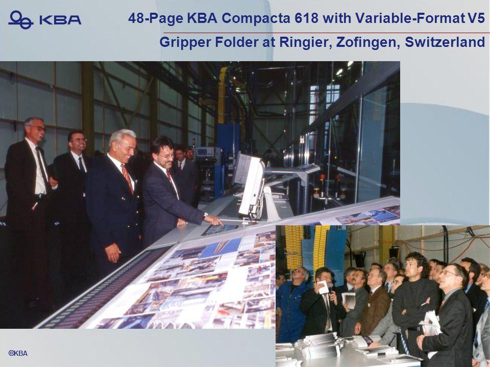  KBA 48-Page KBA Compacta 618 with Variable-Format V5 Gripper Folder at Ringier, Zofingen, Switzerland