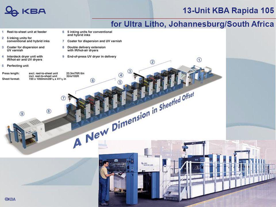  KBA 13-Unit KBA Rapida 105 for Ultra Litho, Johannesburg/South Africa