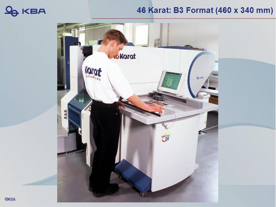  KBA 46 Karat: B3 Format (460 x 340 mm)