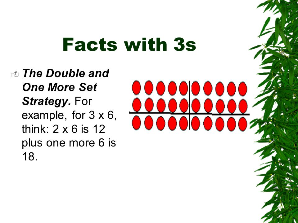Facts with 3s  The Double and One More Set Strategy.