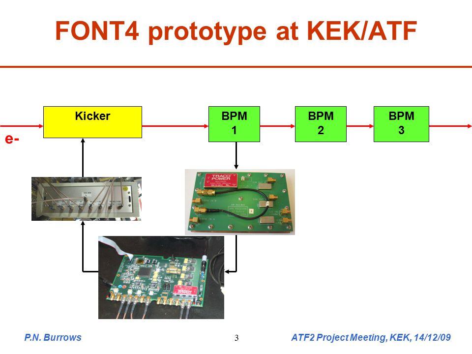 P.N. Burrows ATF2 Project Meeting, KEK, 14/12/0914 New FONT5 ATF2 hardware