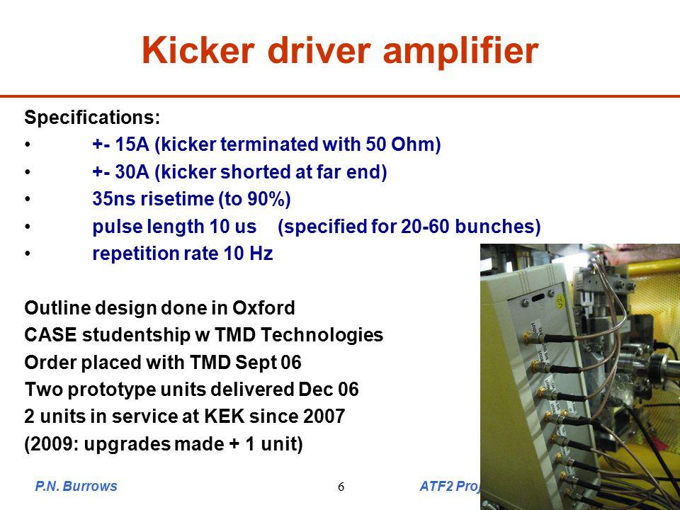 6 Example: kicker calibration Kick of +-40 urad