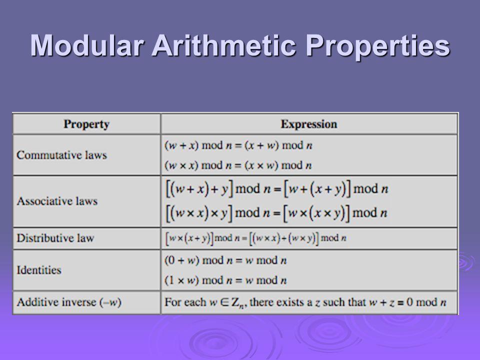 Modular Arithmetic Properties