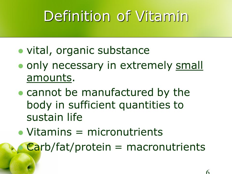 Riboflavin (Vitamin B2) Functions Energy production Tissue building Requirements: increased w/ preg.