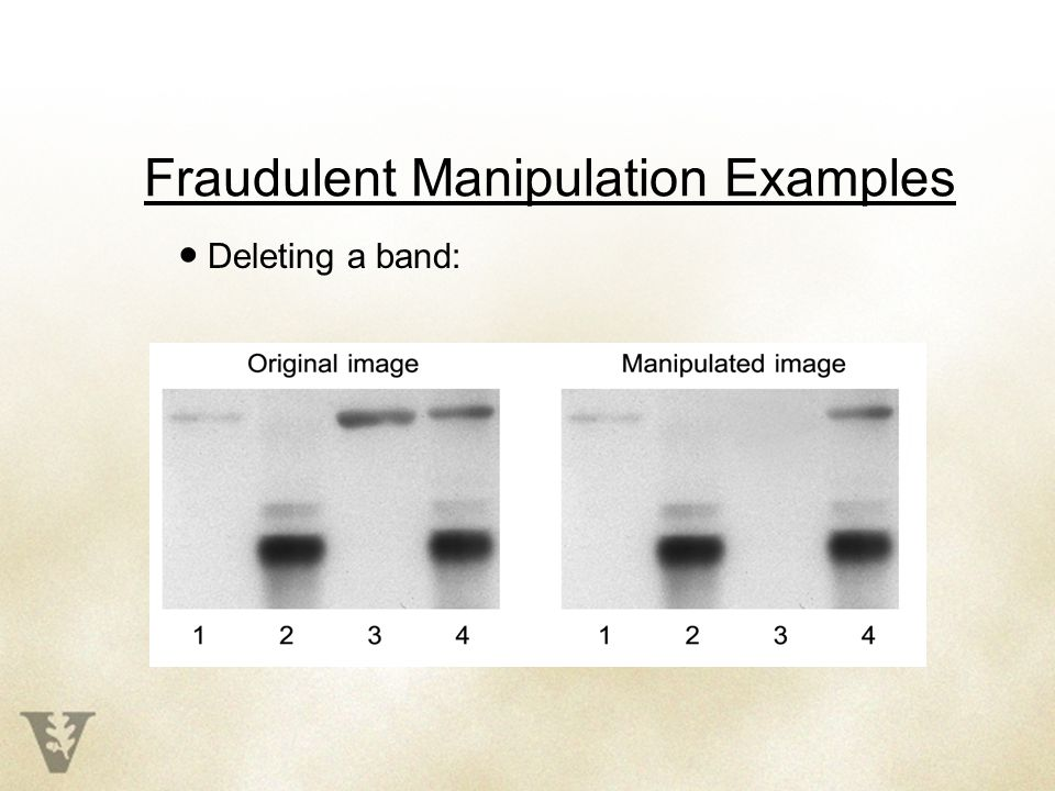 Fraudulent Manipulation Examples ● Deleting a band: