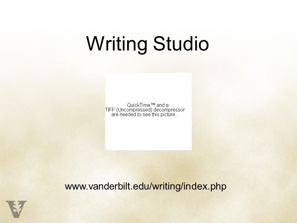 Writing Studio www.vanderbilt.edu/writing/index.php