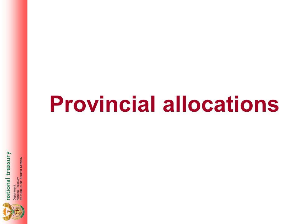 Provincial allocations
