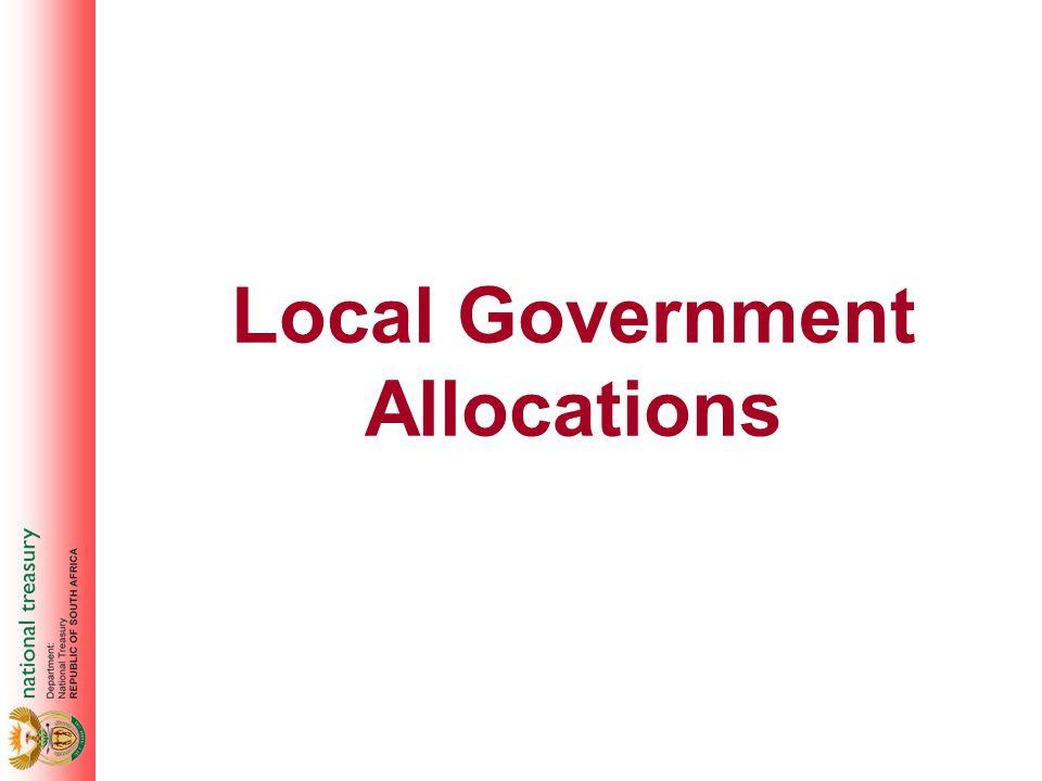 Local Government Allocations
