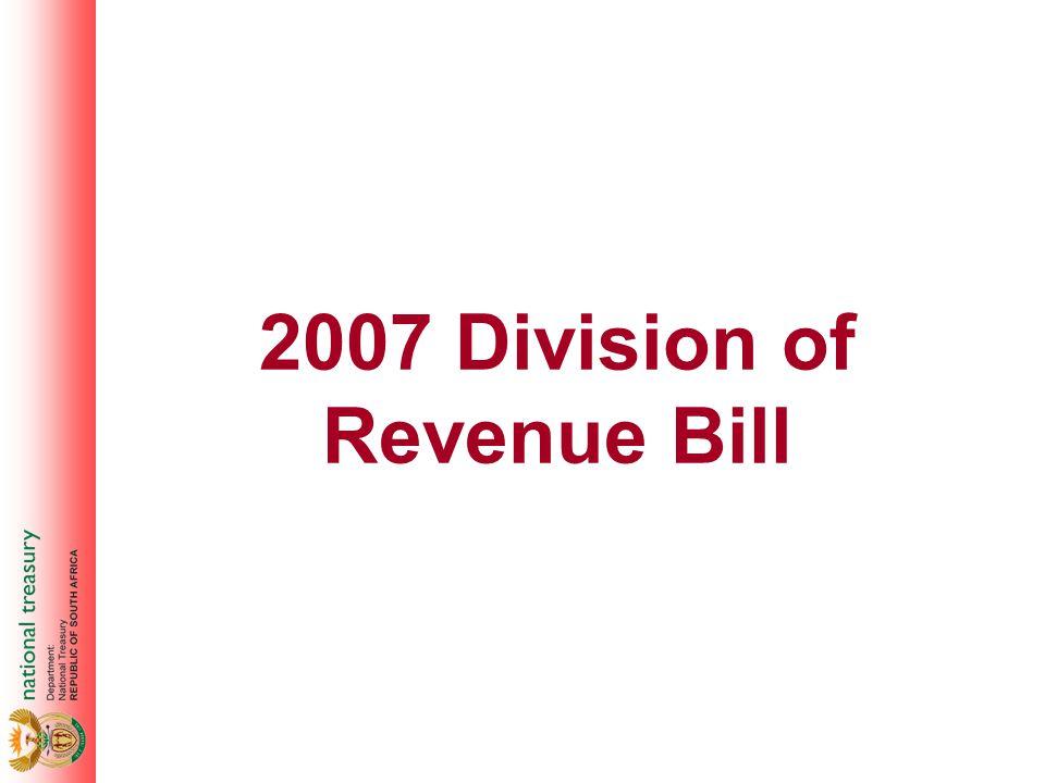 2007 Division of Revenue Bill