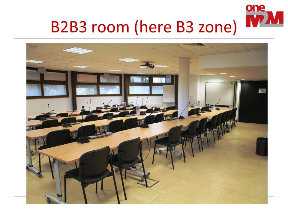 B2B3 room (here B3 zone)