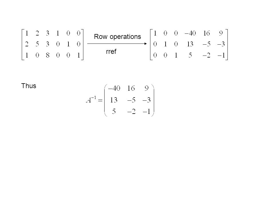 If and n X n matrix A is not invertible, then it cannot be reduced to In by elementary row operations, i.e, the computation can be stopped.