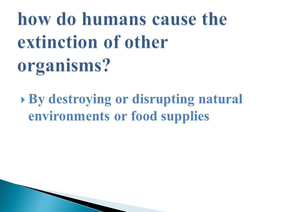  By destroying or disrupting natural environments or food supplies