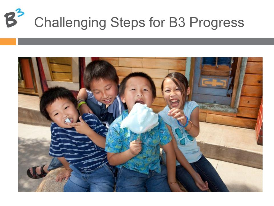 Challenging Steps for B3 Progress