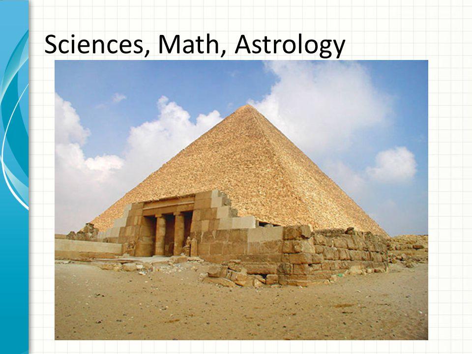 Sciences, Math, Astrology