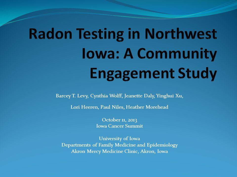 Barcey T. Levy, Cynthia Wolff, Jeanette Daly, Yinghui Xu, Lori Heeren, Paul Niles, Heather Morehead October 11, 2013 Iowa Cancer Summit University of