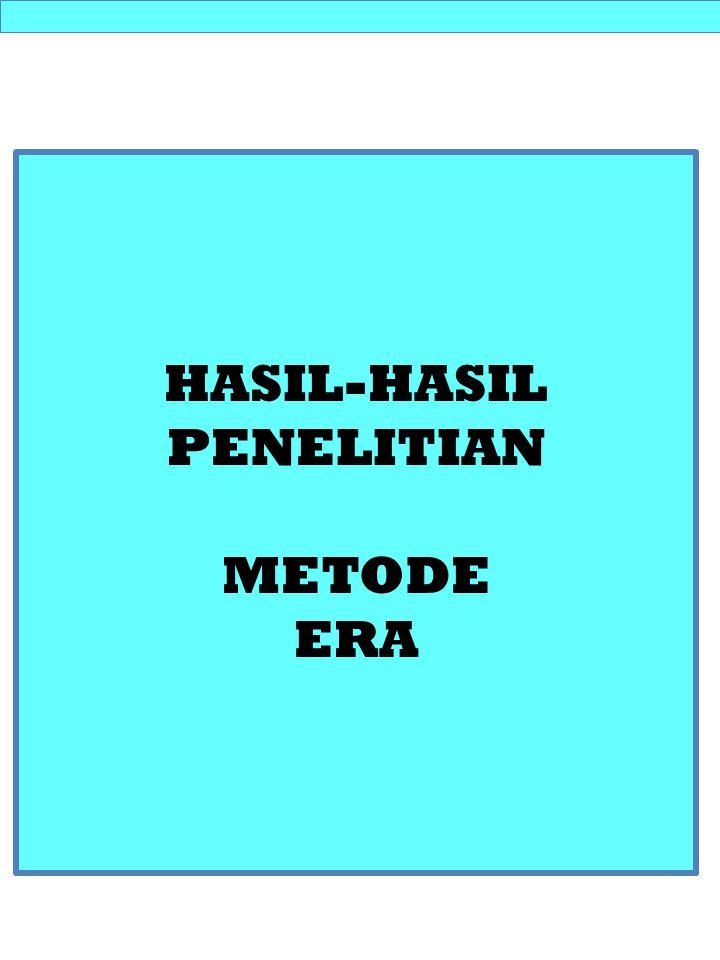 HASIL-HASIL PENELITIAN METODE ERA