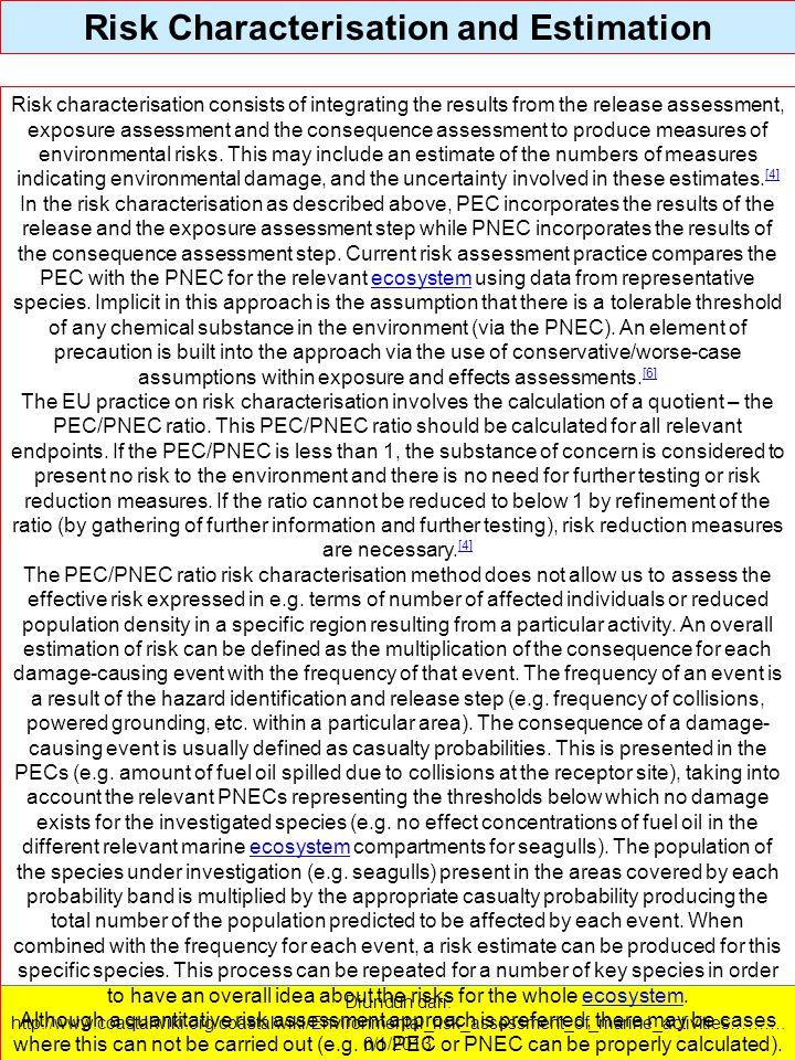 Diunduh dari: http://www.coastalwiki.org/coastalwiki/Environmental_risk_assessment_of_marine_activities………. 6/1/2013 Risk Characterisation and Estimat