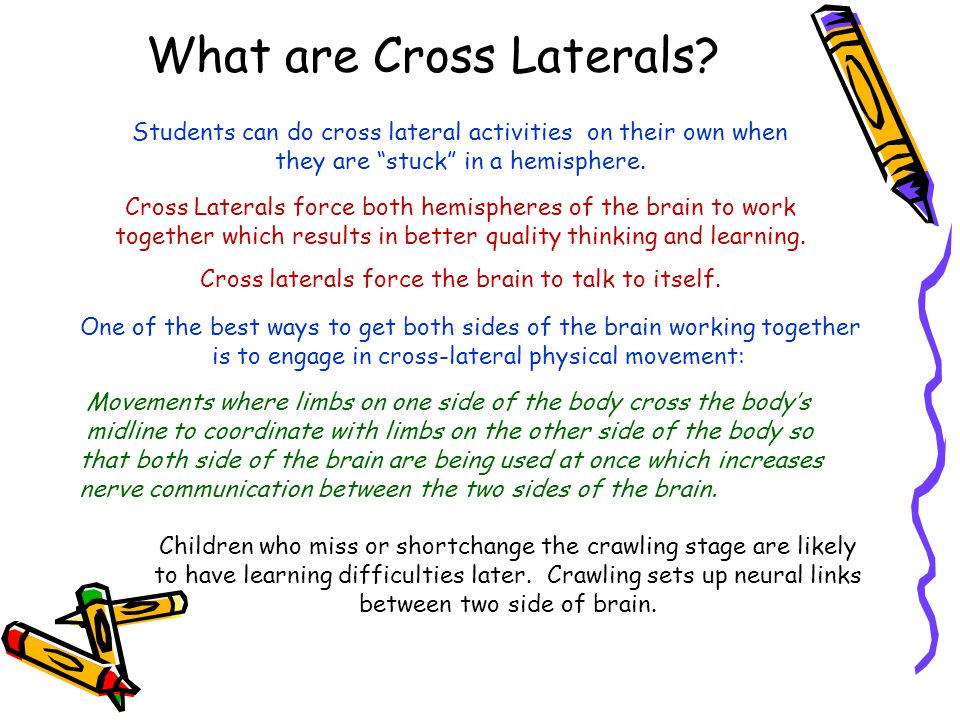 What are Cross Laterals.