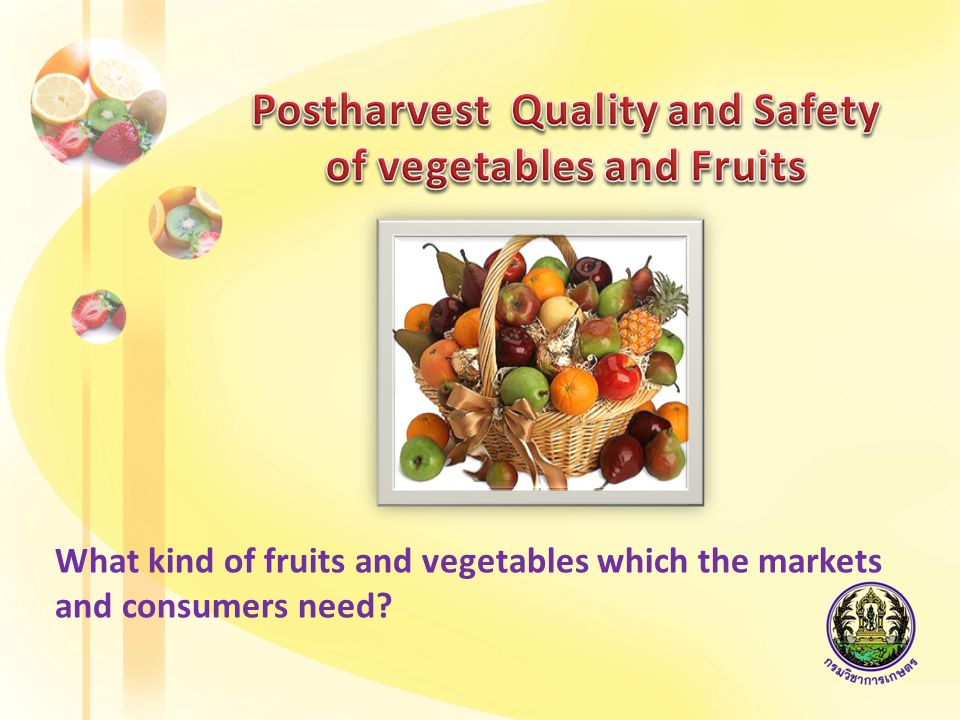 looking at food safety Looking at food quality Sustainable production system