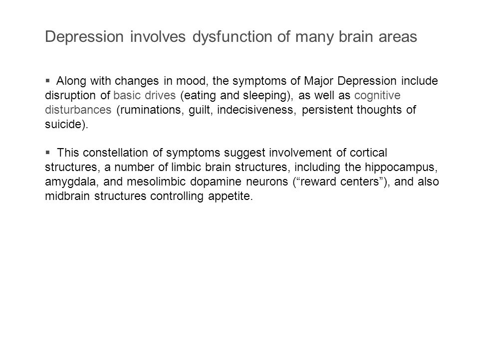 II. Characteristics of Major Depression A.Untreated episodes of major depression usually last from 7 - 14 months. B.Major depression is a recurring di
