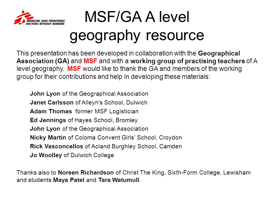 Edexcel A level geography specification match This Famine and Feast presentation addresses the Edexcel specification requirements of Unit 4: Life at the Margins in full and also incorporates guidance from the Examiners' Reports of recent years with regard to students' response to the reports set for the examination.