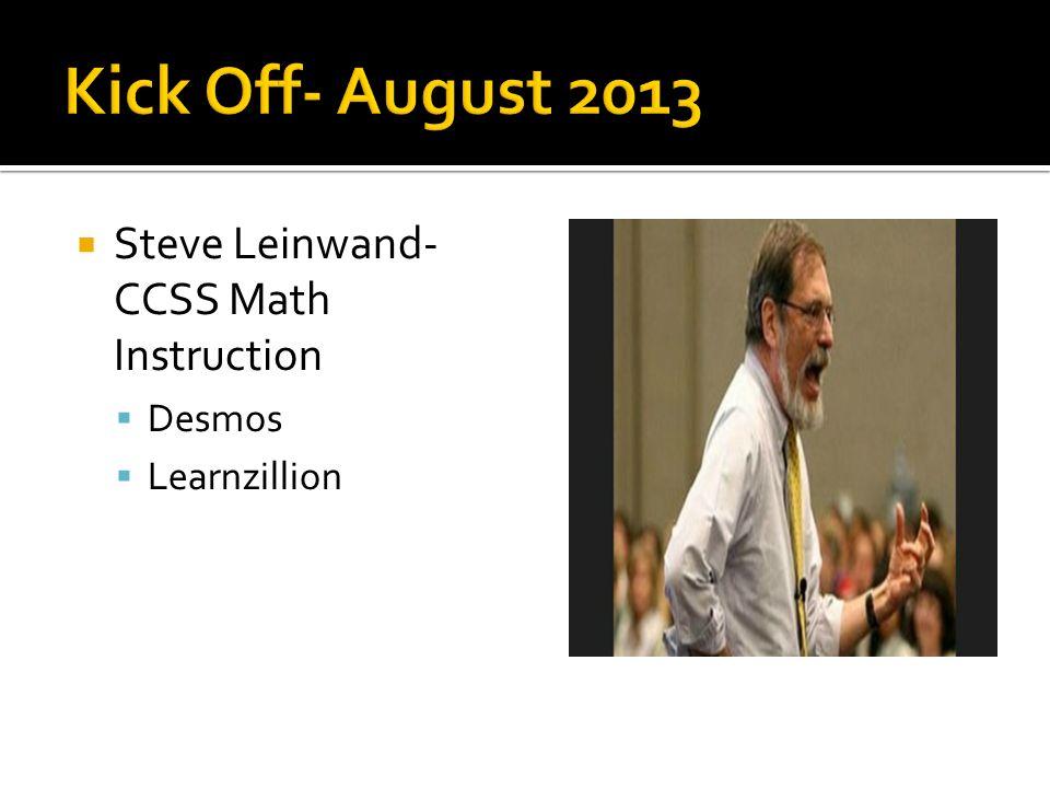  Steve Leinwand- CCSS Math Instruction  Desmos  Learnzillion