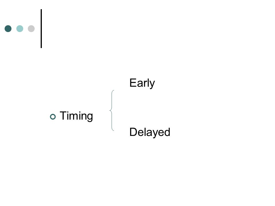 Early Timing Delayed