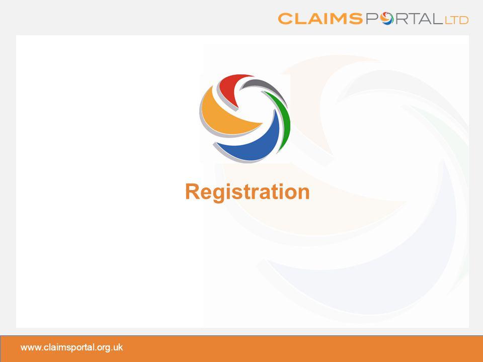 www.claimsportal.org.uk Registration