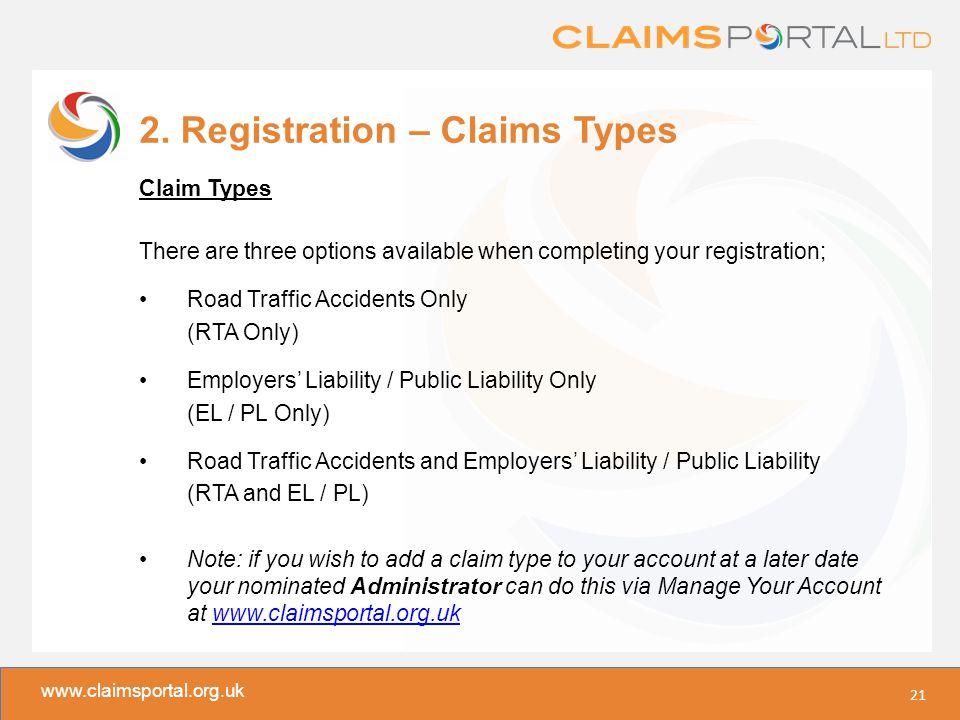 www.claimsportal.org.uk 2.