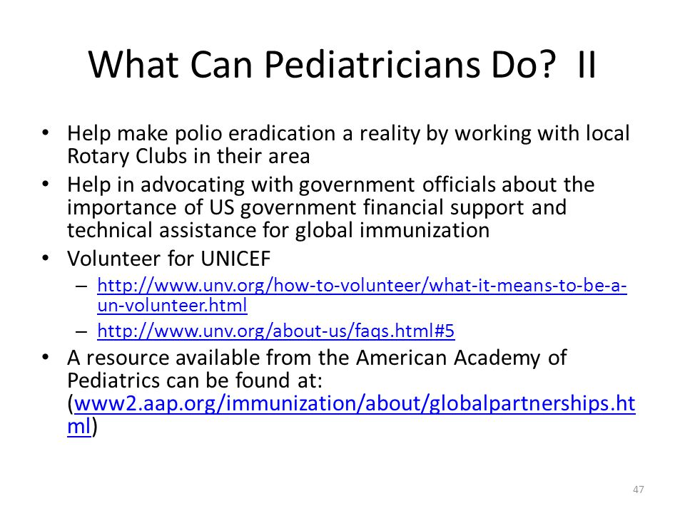 What Can Pediatricians Do.
