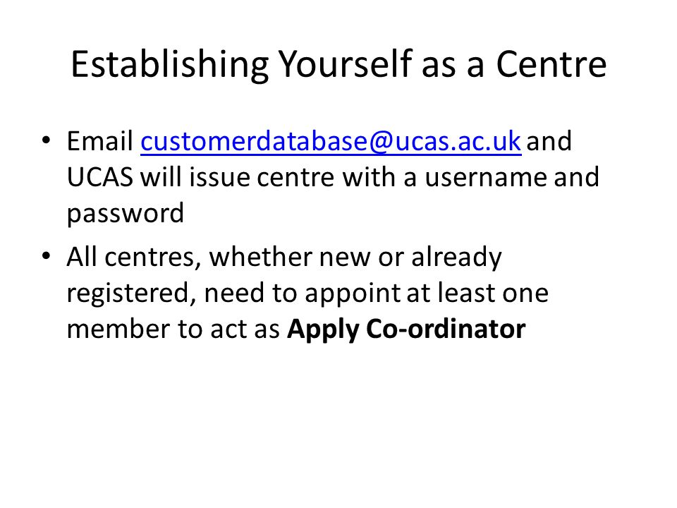 Important Dates: 15 th Oct0ber 2012 Deadline for receipt at UCAS of applications to Oxford or Cambridge, and all with choices for courses in medicine, dentistry, and veterinary medicine/science to reach UCAS.