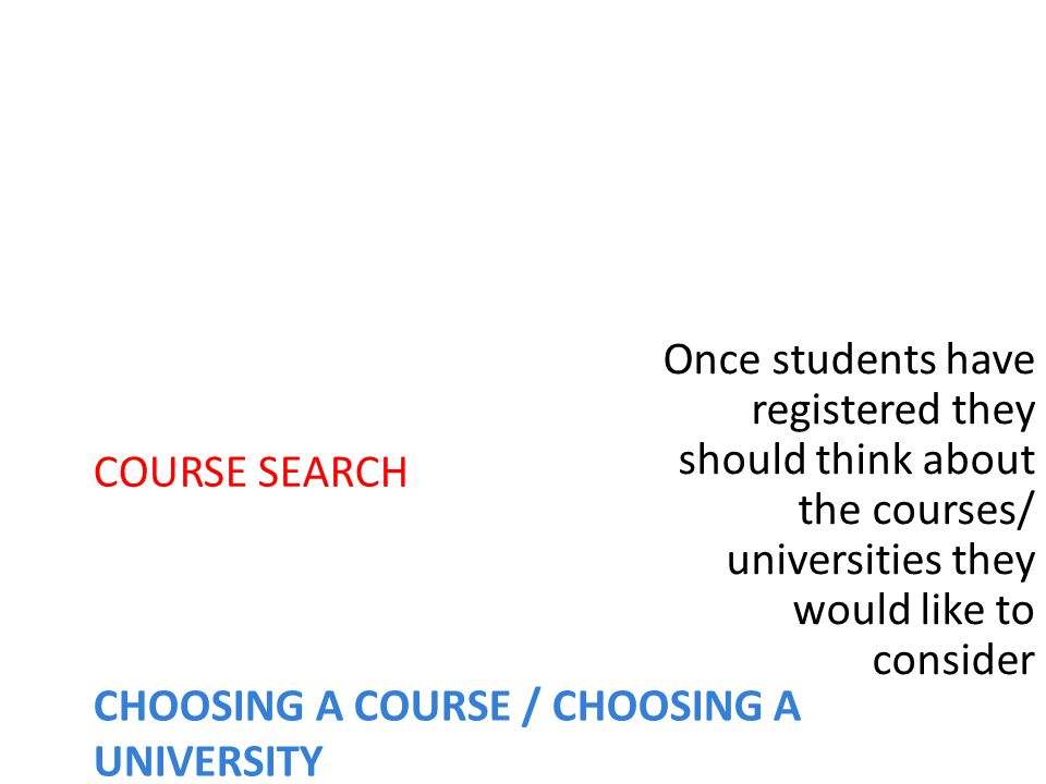 Completing the form Online: Log on to www.ucas.comwww.ucas.com You have the choice of applying individually or through your school If you are applying through the school get the buzzword from your Guidance Counsellor